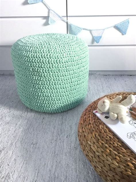 knitted bean bag cover 17 best ideas about knitted pouf on floor pouf