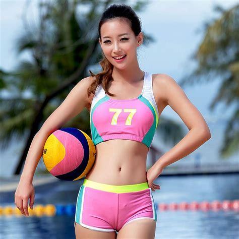 Irina Set Jersey 2015 new boxer sport swimsuit padded push up