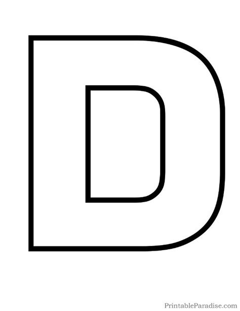 printable alphabet letter d 1000 images about printable outline letters on pinterest