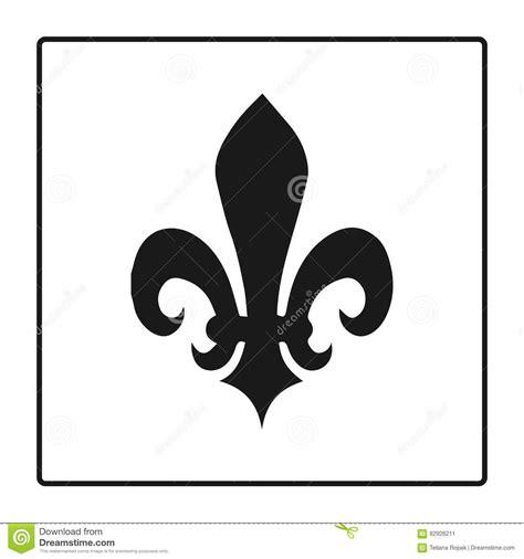 fleur de lis l fleur de lis symbol silhouette heraldic symbol vector
