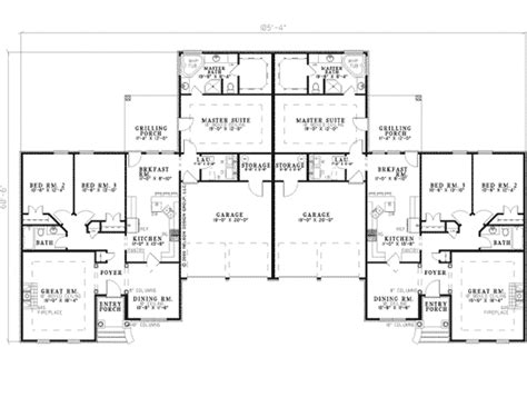 ranch duplex floor plans la belle park ranch duplex plan 055d 0358 house plans