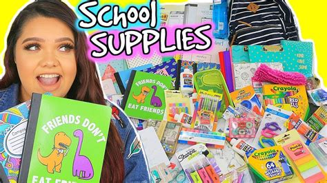 Karina Garcia Giveaway - back to school supplies haul giveaway 2017 youtube