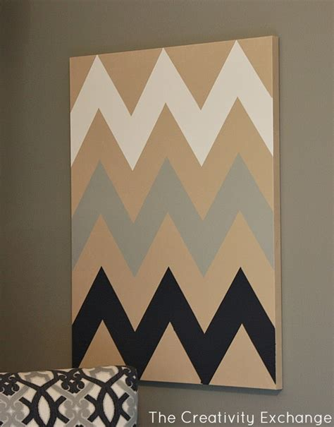 printable art diy diy multi colored chevron canvas art with printable stencil