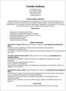 professional operating room registered resume