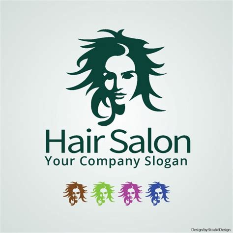 Hair Free by Hair Salon Logo Vector Free