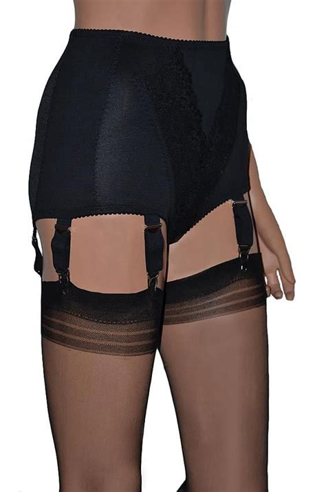 girdles with suspenders black vintage style panty girdle with 6 suspenders