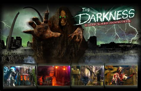 the darkness haunted house behind the thrills the darkness haunted house tours during transworld s haa show