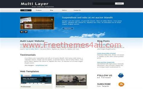 free jquery website templates for business free jquery business blue html website template download