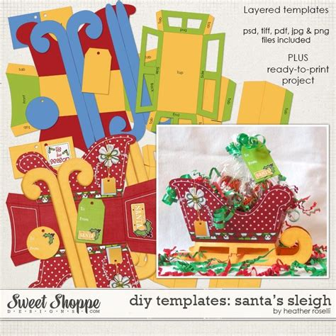 diy paper sleigh kids 17 best images about diy paper project templates printables on gift card holders