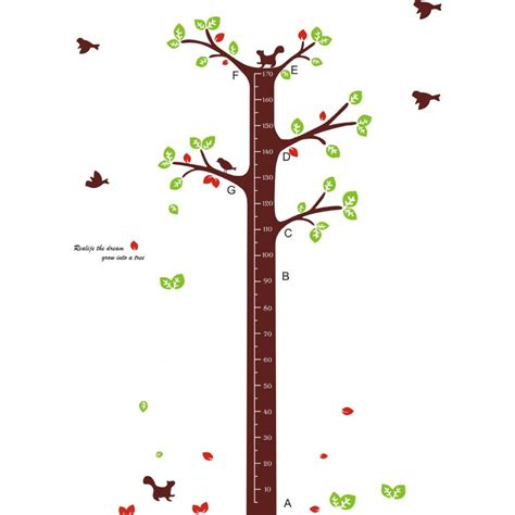wall sticker growth chart tree growth chart wall sticker wall decals vinyl