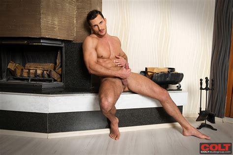 Buck Santiago Strokes His Cock Male Erotika Com