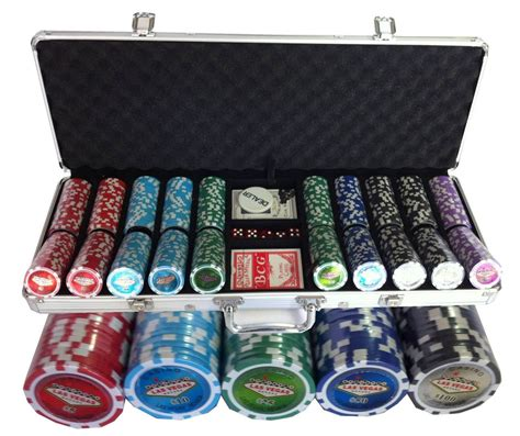 500 poker chips set Las Vegas   PokerProductos.com