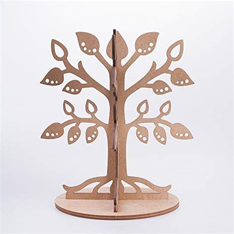 porta orecchini in legno legno ecologiche gioielli albero espositore porta