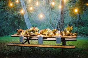 Backyard Dinner by 15 Outdoor Thanksgiving Table Settings For Dining Alfresco