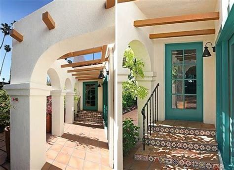 spanish revival colors eagle rock spanish house love the fun trim color on the