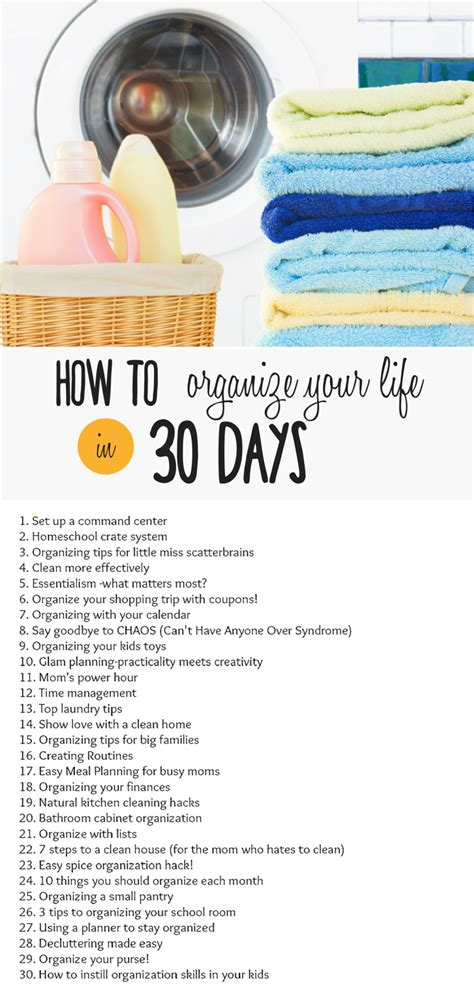 organizing life how to organize your life in 30 days join the challenge