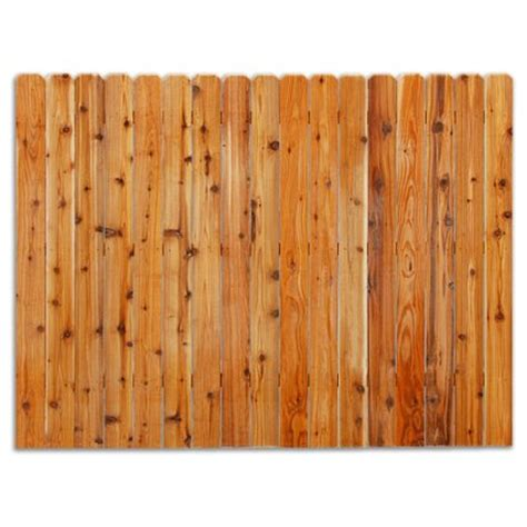 cedar fence panels home depot