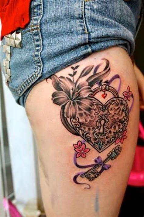 tattoo my photo 2 0 unlock key 50 inspiring lock and key tattoos the ribbon flower and