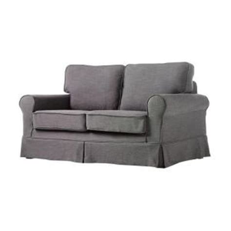 gray slipcover loveseat home decorators collection sophia gray linen 60 in w