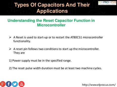 types of starting capacitors types of capacitors and their applications