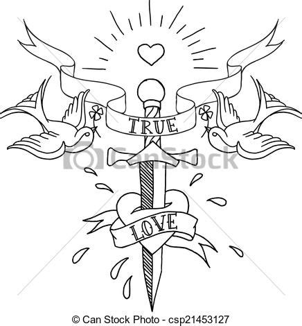 vector illustration of old tattoos pattern old