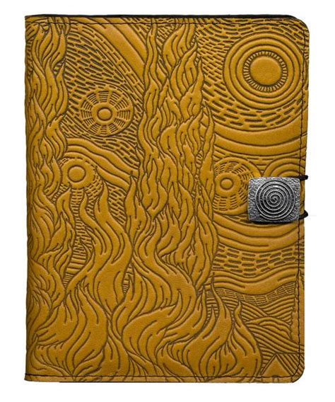 oberon design kindle cover leather cover for kindle e readers van gogh sky oberon