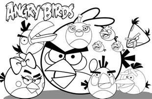 angry bird coloring pages free printable angry bird coloring pages for