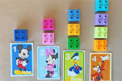 mickey friends number flash cards disney family