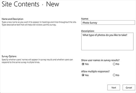 Office 365 Questionnaire Membuat Survei Sharepoint