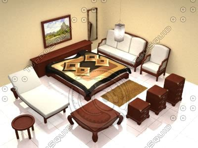 Bali Bedroom Furniture 3d Model Bedroom Furniture 1 Bali