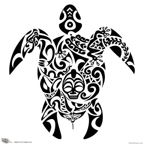 tribal turtles tattoos turtle tribal designs free images at clker