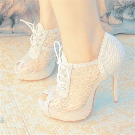 Cutie Bootie Shoes White high heel white prom shoes 2014 prom styles
