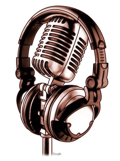 microphone tattoo stencil microphone and headphones tattoo design best tattoo designs