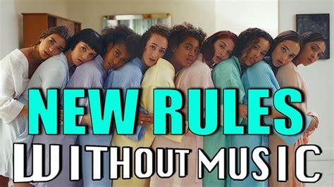 dua lipa parody dua lipa new rules withoutmusic parody youtube