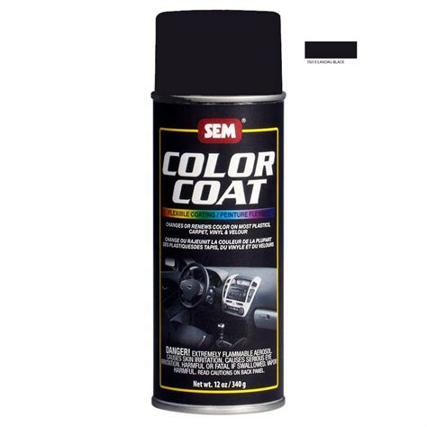 sem color coat sem color coat system 15013 landau black aerosol vinyl