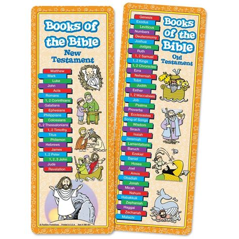 books of the bible pictures books of the bible bookmark