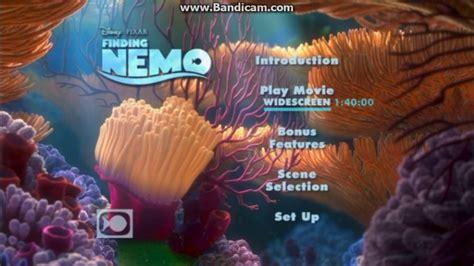 Cober Stopl Nmax Nemo opening to finding nemo 2003 dvd disc 1