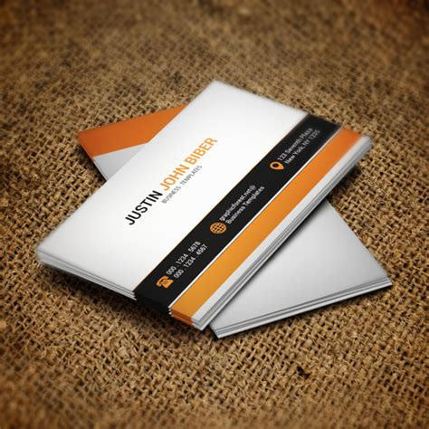 business card template psd rar white business card psd template template for free
