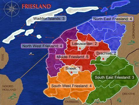 netherlands friesland map friesland map