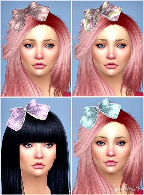 bow baby at jenni sims 187 sims 4 updates sims 4 custom content hair bows jennisims downloads sims 4