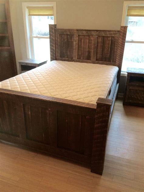 wood bed set best 25 reclaimed wood headboard ideas on pinterest diy