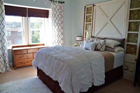 Master Bedroom Barn Door Barn Door Headboard Master Bedroom Reveal Home Stories