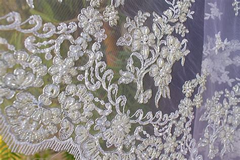 beading fabric beaded lace white fabric beaded pearls sequin