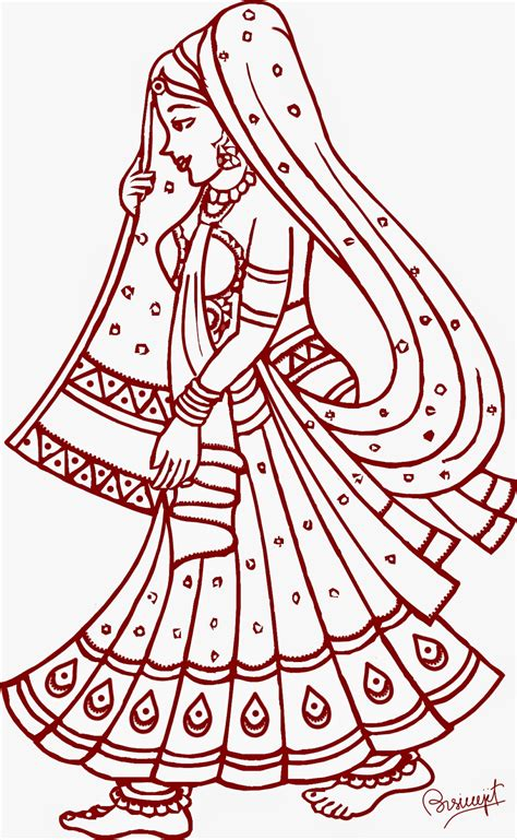 indian bride coloring page 1000 images about draw on pinterest