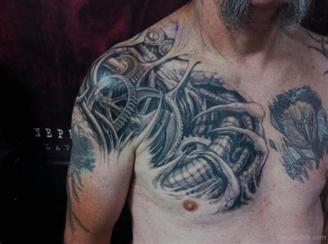 biomechanical chest tattoo designs biomechanical tattoos designs pictures