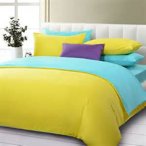 Duvet Sheet Yellow Solid Duvet Cover And Sheet Bedding