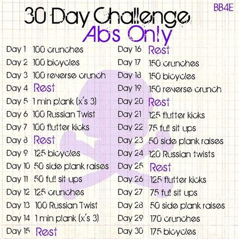 ab work out challenge 30 day ab challenge calendar for abs only 30 day