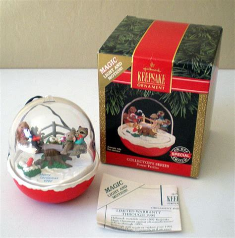 hallmark light and motion ornaments hallmark ornament forest frolics magic light motion from