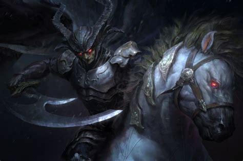 wallpaper dark knight horse red eyes armor horns