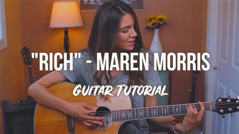 maren morris guitar rich maren morris guitar tutorial youtube